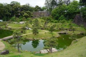 玉泉院丸庭園全体