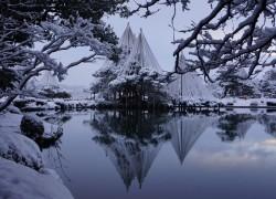 兼六園の雪景色H28.2.16 (2)