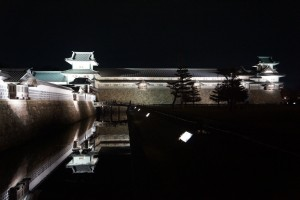 金沢城のライトアップH28.2.12 (7)